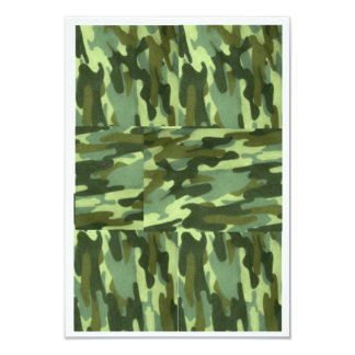 Green Camo Invitation-Surprise Party Card