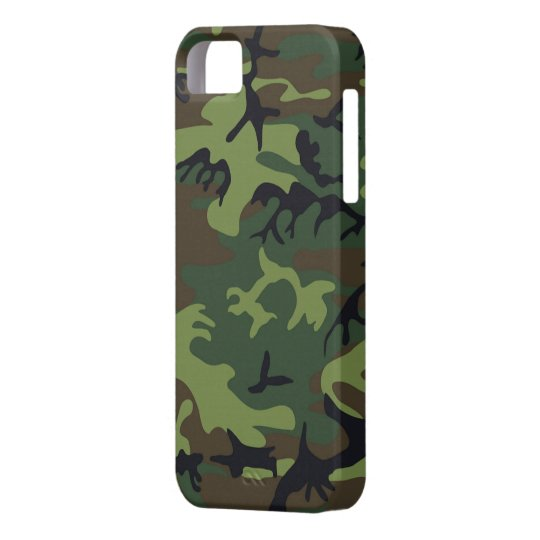 Green Camo iPhone 5S Shell w/ID,Credit Card Holder