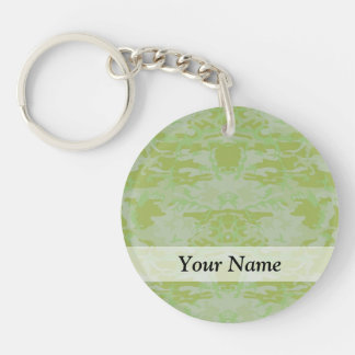 Green camo key ring