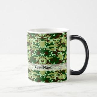 Green camo magic mug