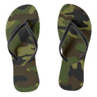 Green Camo Military Camouflage Pattern Flip Flops