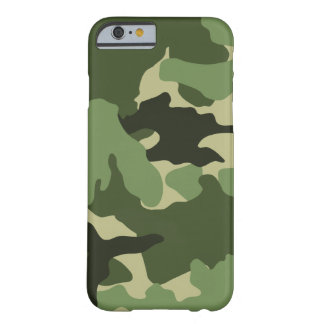 Green Camo Military Camouflage Slim iPhone 6 6S Barely There iPhone 6 Case