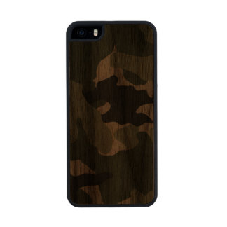 Green Camo Military Carved® Wood iPhone 5 5S Cases Carved® Walnut iPhone 5 Case