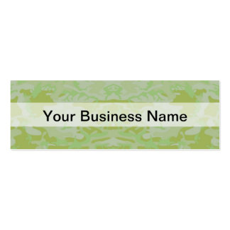 Green camo pack of skinny business cards