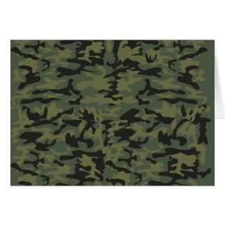 Green camo pattern card