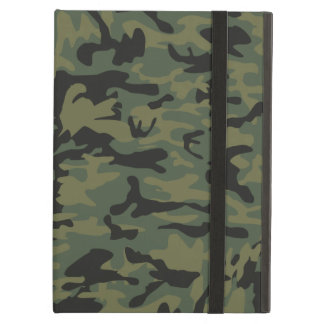 Green camo pattern cover for iPad air