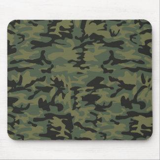 Green camo pattern mouse mat