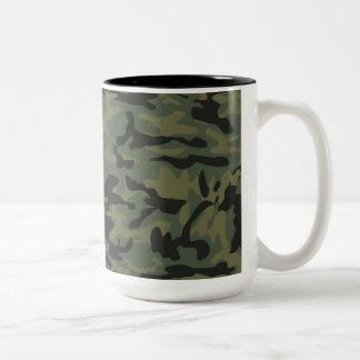 Green camo pattern mug