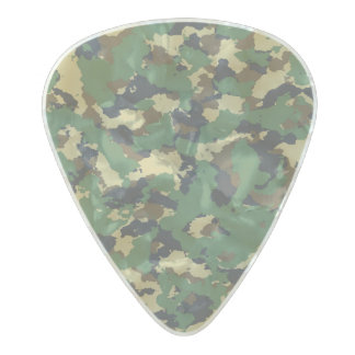 Green camo pearl celluloid guitar pick