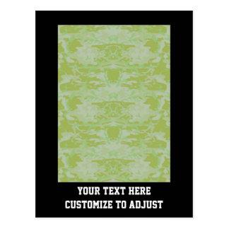 Green camo postcard