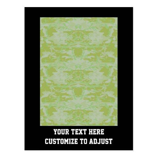 Green camo post cards