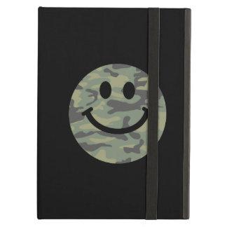 Green Camo Smiley Face Cover For iPad Air