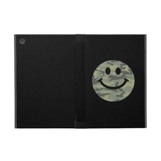 Green Camo Smiley Face iPad Mini Case