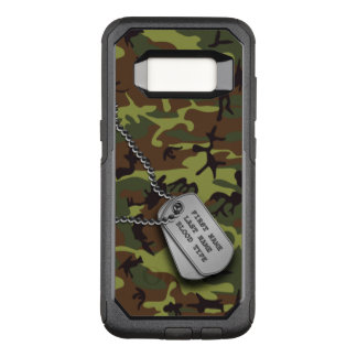 Green Camo w/ Dog Tag OtterBox Commuter Samsung Galaxy S8 Case