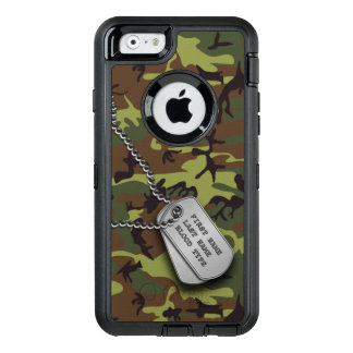 Green Camo w/ Dog Tag OtterBox iPhone 6/6s Case