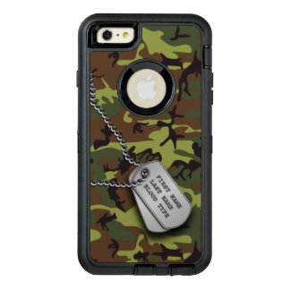 Green Camo w/ Dog Tag OtterBox iPhone 6/6s Plus Case