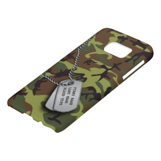 Green Camo w/ Dog Tags