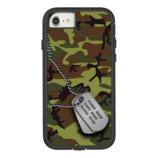Green Camo w/ Dog Tags Case-Mate Tough Extreme iPhone 8/7 Case