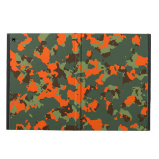Green Camo with Blaze Safety Orange Powis iPad Air 2 Case