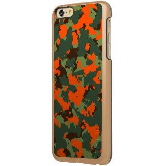 Green Camo with Blaze Safety Orange Incipio Feather® Shine iPhone 6 Plus Case