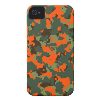 Green Camo with Safety Blaze Orange iPhone 4 Case