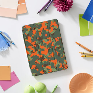 Green Camo with Safety Blaze Orange iPad Pro Cover
