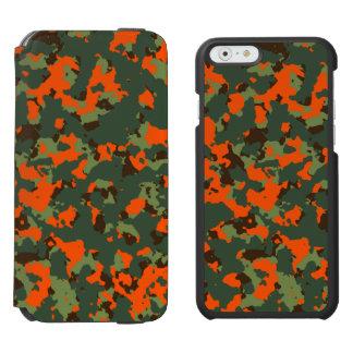 Green Camo with Safety Blaze Orange Incipio Watson™ iPhone 6 Wallet Case