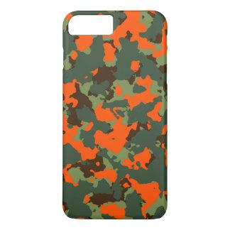 Green Camo with Safety Blaze Orange iPhone 7 Plus Case