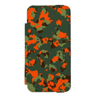 Green Camo with Safety Blaze Orange Incipio Watson™ iPhone 5 Wallet Case