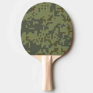 Green Camouflage Army pattern Ping Pong Paddle