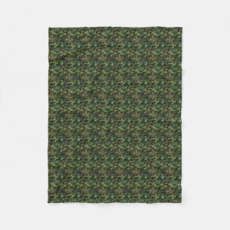 Green Camouflage Camo Pattern Fleece Blanket