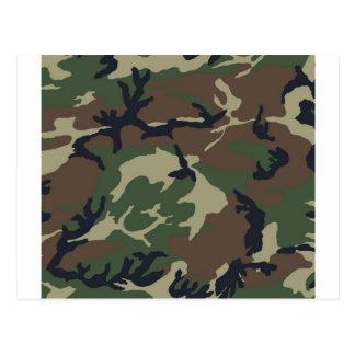 Green Camouflage camo Postcard