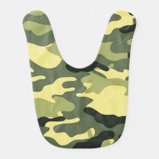 Green Camouflage Camo texture Baby Bibs