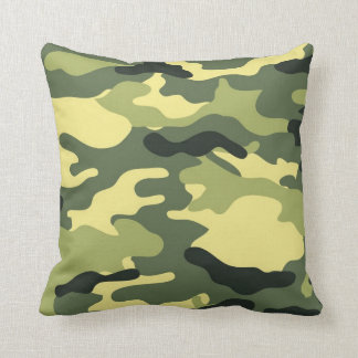 Green Camouflage Camo texture Cushion