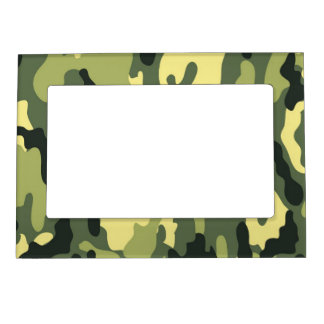 Green Camouflage Camo texture Magnetic Frame