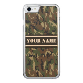 Green Camouflage Carved iPhone 8/7 Case