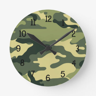 Green Camouflage Clock boy bedroom nursery CAMO