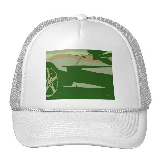 Green Camouflage Corvette Hat