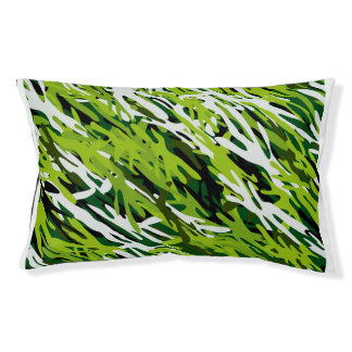 Green Camouflage Dog Pillow