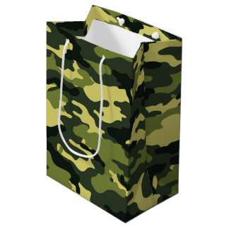 Green camouflage Gift Bag