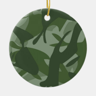 Green Camouflage II Christmas Ornament