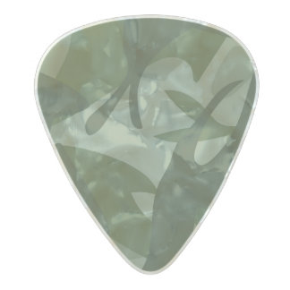 Green Camouflage II Pearl Celluloid Guitar Pick