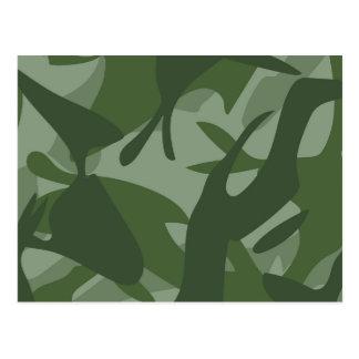 Green Camouflage II Postcard