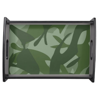 Green Camouflage II Serving Tray