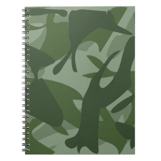 Green Camouflage II Spiral Notebook