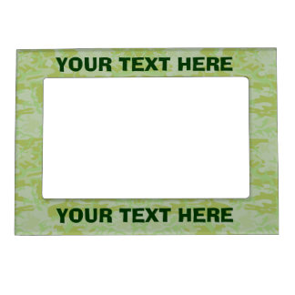 Green camouflage magnetic frame