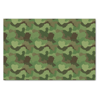Green Camouflage/Military Camo Tissue Paper