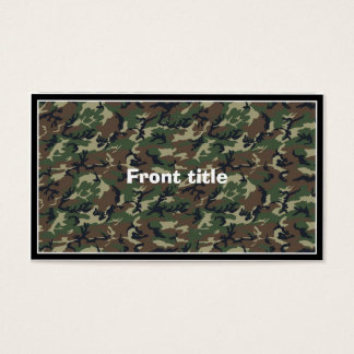 Green Camouflage Military Pattern Business Card