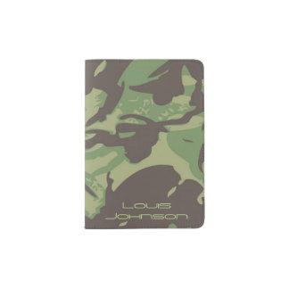 Green Camouflage Passport Holder