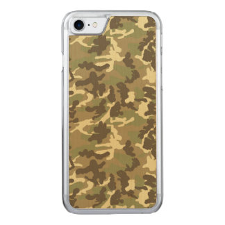 Green Camouflage Pattern Carved iPhone 8/7 Case